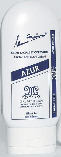 Azur - La crème SPF 30 faciale et corporelle