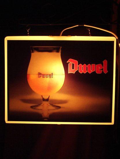 Enseigne lumineuse double face Duval