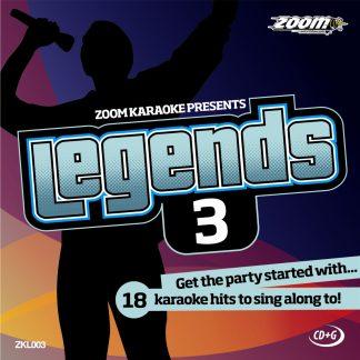 Zoom Karaoke ZKL003 - Legends 3 - 18 Karaoke hits to sing along to!