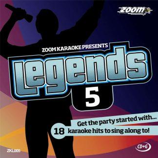 Zoom Karaoke ZKL005 - Legends 5 - Karaoke hits to sing along to!