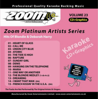 Zoom Karaoke ZPA23 - Hits of Blondie & Deborah Harry