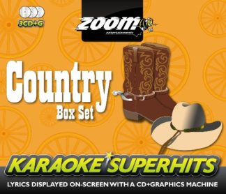 Zoom Karaoke ZSH003 - Country Superhits Pack - 3 Albums Kit
