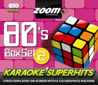 Zoom Karaoke ZSH006 - 80's Superhits Pack 2 - 3 Albums Kit