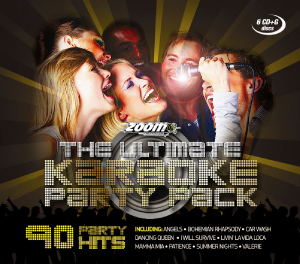 Zoom Karaoke ZUKPP01 - The Ultimate Karaoke Party Pack - 6 Albums Kit