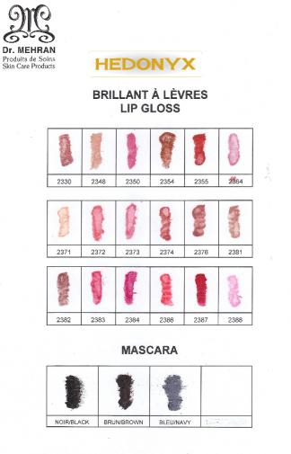 Couleurs brillant à lèvres - mascara