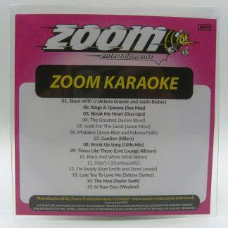 Zoom Karaoke ZPCP2020IV - Pop Chart Picks 2020 - Part 4