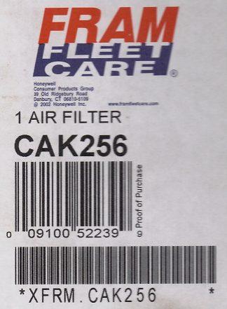 Fram CAK256 Filtre à air robuste