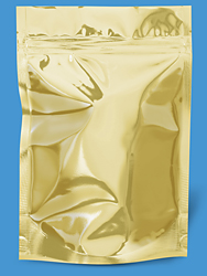 Gold Mylar Bag 6x9x3""