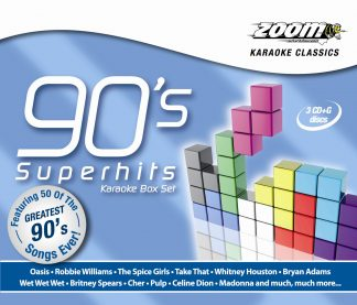 Zoom Karaoke CDZMPK06 - 90's Superhits - 3 Albums Kit