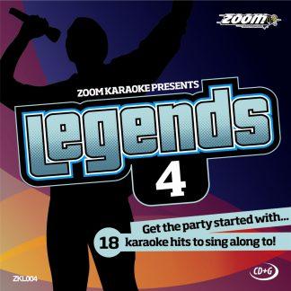 Zoom Karaoke ZKL004 - Legends 4 - Karaoke hits to sing along to!