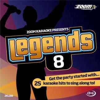 Zoom Karaoke ZKL008 - Legends 8 - Karaoke hits to sing along to!