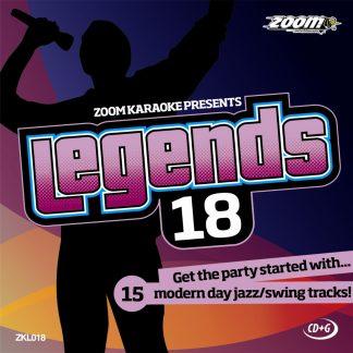 Zoom Karaoke ZKL018 - Legends 18 - Modern day jazz/swing tracks!