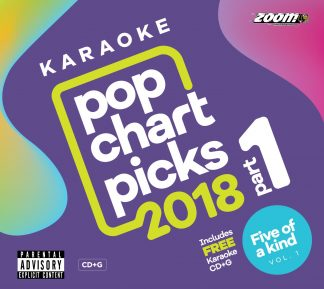 Zoom Karaoke ZPCP218IZFK1 - Pop Chart Picks 2018 - Part 1 + Five Of a Kind - Volume 1