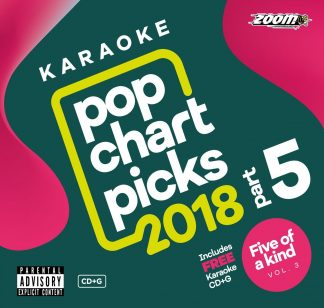 Zoom Karaoke ZPCP218VZFK3 - Pop Chart Picks 2018 - Part 5 + Five Of a Kind - Volume 3 (Ladies of Soul)