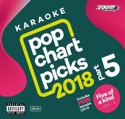 Zoom Karaoke ZPCP218VZFK3 - Pop Chart Picks 2018 - Part 5 + Five Of a Kind - Volume 3 (Ladies of Soul)