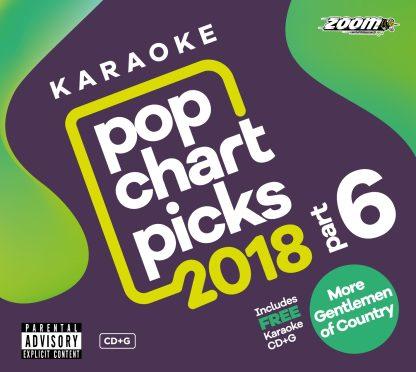 Zoom Karaoke ZPCP218VIZGC1 - Pop Chart Picks 2018 - Part 6 + More Gentlemen of Country - Volume 1