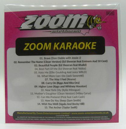 Zoom Karaoke ZPCP2019V - Pop Chart Picks 2019 Part 5