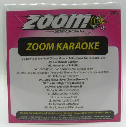 Zoom Karaoke ZPCP2019VIII - Pop Chart Picks 2019 Part 8