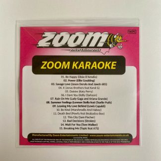Zoom Karaoke ZPCP2020-5 - Pop Chart Picks 2020 - Part 5