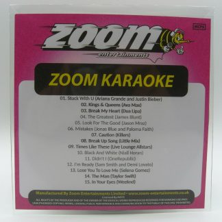 Zoom Karaoke ZPCP2020III - Pop Chart Picks 2020 - Part 4