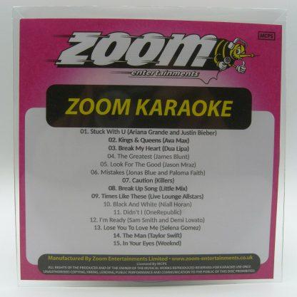 Zoom Karaoke ZPCP2020III - Pop Chart Picks 2020 - Part 4