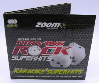 Zoom Karaoke ZSH008 - Driving Rock Superhits - 3 Albums Kit