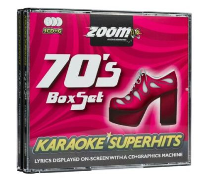 Zoom Karaoke ZSH009 - 70's Seventies Superhits - 3 Albums Kit