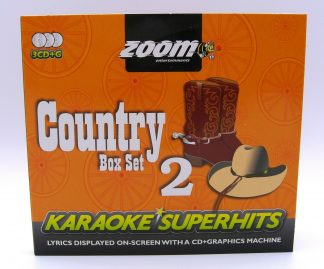 Zoom Karaoke ZSH011 - Classic Country Superhits 2 - 3 Albums Kit