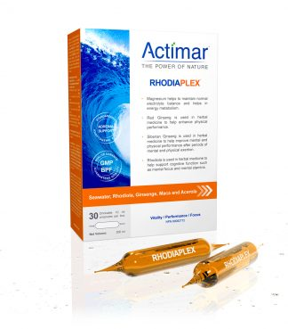RHODIAPLEX® Marine electrolytes, ginseng, rhodiodal, maca and acerola in vials
