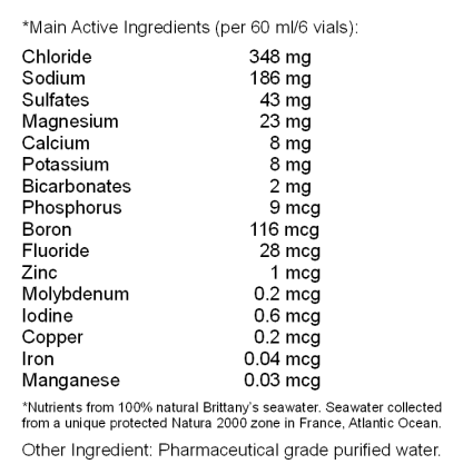 Isotonic Pure Marine Plasma® - Ingredients