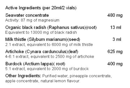 Marisyl Hepa 4® - Ingredients